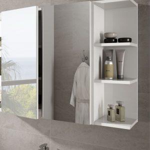 Blanco Brillo 80cm Καθρέπτης Μπάνιου με Κρυφοντούλαπο και Ραφάκι