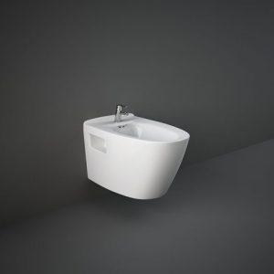 R.A.K Venice Μπιντέ κρεμαστό 56.5cm Λευκό/Μαύρο