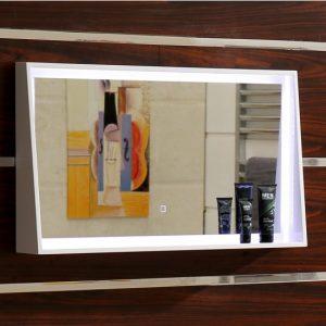 Frame 80x45cm Φωτιζόμενος Καθρέπτης με πλαίσιο και φωτισμό LED 1080-45