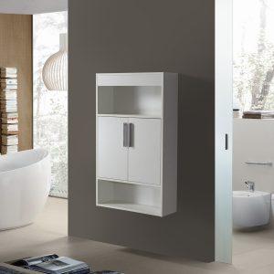 Alon 7 Ντουλαπι Μπάνιου Κρεμαστό 63 cm Λευκό 3CAL063WH7