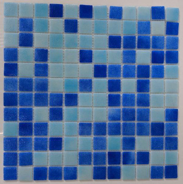 Mosaico Mix 32.7x32.7cm Γυάλινη Ψηφίδα Πισίνας Μπλέ