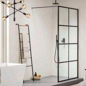 Orabella Window 90 cm Καμπίνα Ελεύθερης Τοποθέτησης Μαύρη Ματ