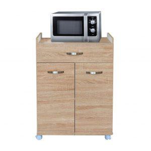 276314 Έπιπλο κουζίνας πολυχρηστικό ντουλάπι με ρόδες, 60x40,5x81,3h