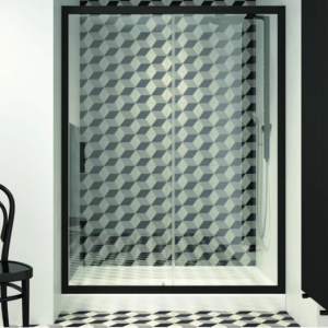 Orabella Energy Black 100 cm Πόρτα Ντουζιέρας Μαύρη Ματ Συρόμενη