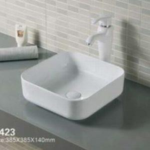Domistyle A423 38.5x38.5x14cm Νιπτήρας Μπάνιου Επικαθήμενος / Επιτραπέζιος