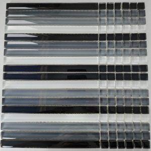 Ψηφίδα Γυάλινη 30Χ30cm Mosaico S-46 Grey Black