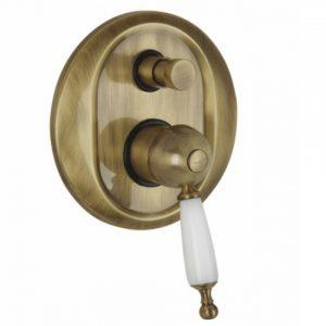 Bugnatese Oxford 6372 Bronze Μίκτης εντοιχισμού 2 εξόδων