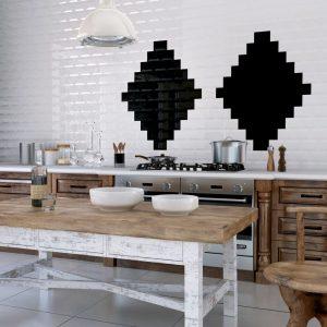 Bestile Bellini Bisel Negro Πλακάκι  Μπάνιου & Κουζίνας  7,5x30 cm