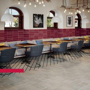 Ricchetti Brick Inspiration Burgundy Πλακάκι Επένδυσης Τοίχου Τουβλάκι 10Χ30 cm.