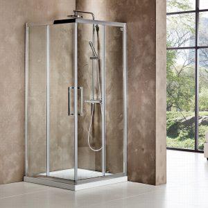 Devon Primus Plus 80x80cm Καμπίνα Ντουσιέρας Τετράγωνη Corner Entry Clean Glass CT80C-100