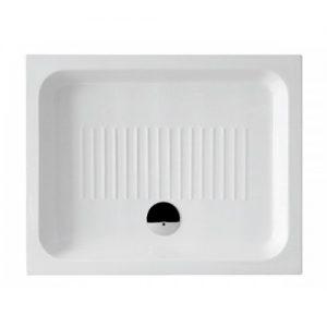 GSI Basic 2590 90Χ72cm Ντουζιέρα Πορσελάνη Λευκή Παραλληλόγραμμη