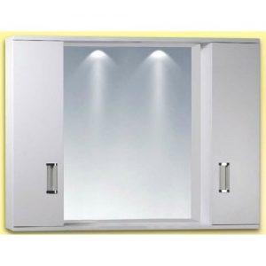 Καθρέπτης Μπάνιου με Ντουλάπια Κρεμαστός  PVC Gloria Fino 2 (15-0010) 77x58cm