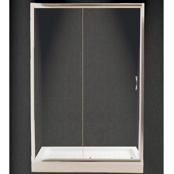 Πόρτα Ντουζιέρας Nude Διάφανη Τοίχο-Τοίχο 110x180